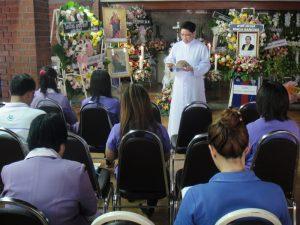 การประกอบพิธีงานศพของชาวคริสต์