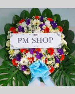 ดอกไม้สดจัดเป็นพวงหรีดสุดคุ้ม ราคาไม่แพง มองมุมไหนก็สวย